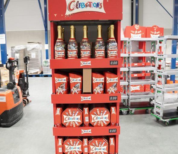 Diensten display bouw voor celebrations