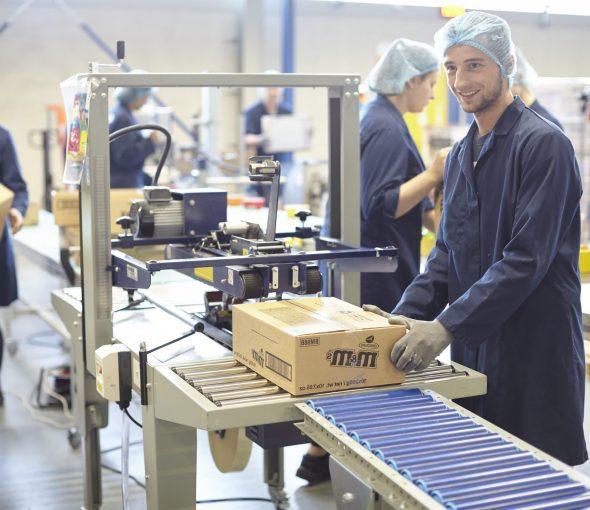 Diensten geautomatiseerd dicht plakken van dozen Na-Nomi