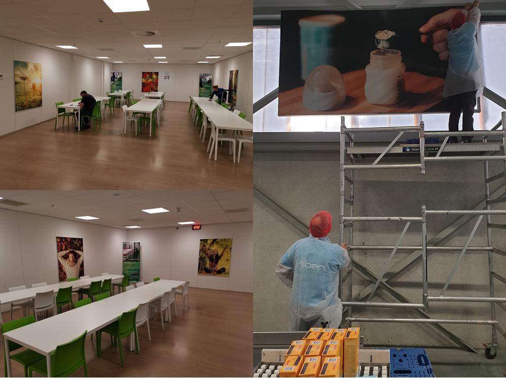 Aankleding productieruimte en kantine Na-Nomi